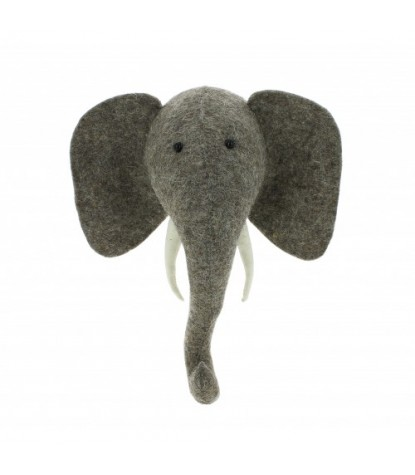 Fiona Walker Mini Elephant Head Wall Mount