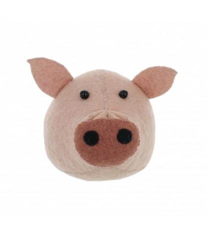 Fiona Walker Mini Pig Head Wall Mount