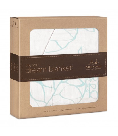 Azure Leafy Silky Soft Dream Blanket