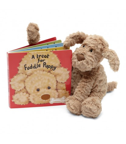 Jellycat – A Treat for Fuddle Puppy Board Book