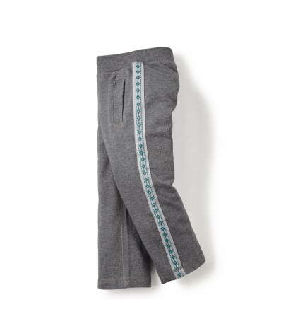 Tea Collection – Bolivian Side Stripe Pants Heather Grey