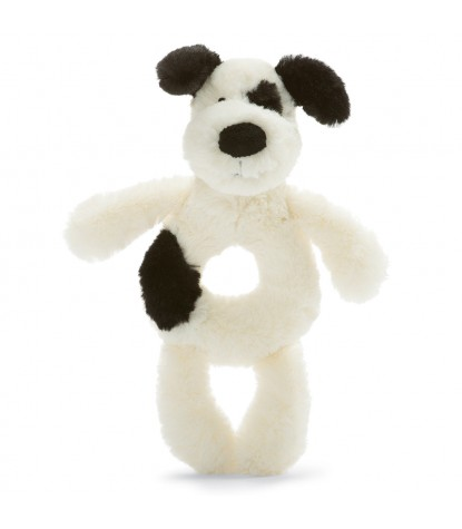 Jellycat – Bashful Black & Cream Puppy Grabber