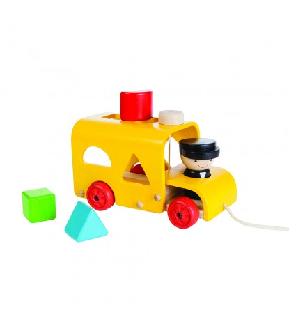 Plan Toys – Pull-Along Sorting Bus