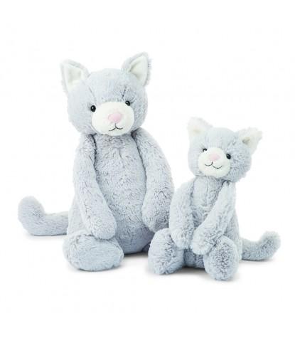 Jellycat Bashful Grey Kitty Large (on the left)