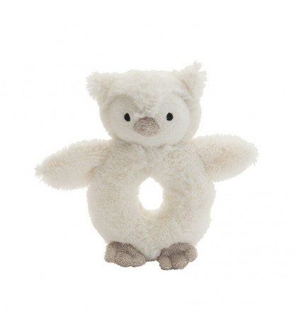 Jellycat – Bashful Owl Ring Rattle