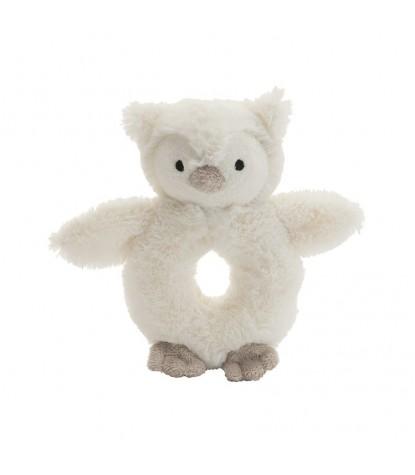 Jellycat – Bashful Owl Ring Rattle