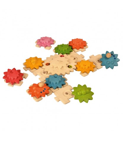 Plan Toys – Gears & Puzzle Deluxe