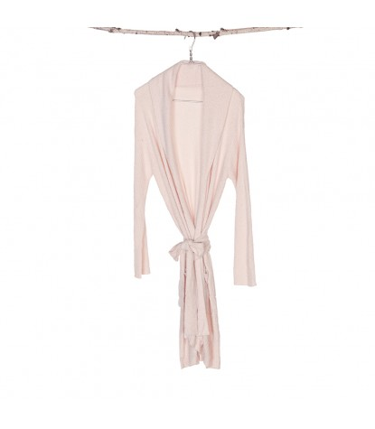 Barefoot Dreams – Bamboo Chic Lite Short Ribbed Robe in Pink