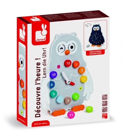 Janod – Owly Clock Reversible Learning Clock