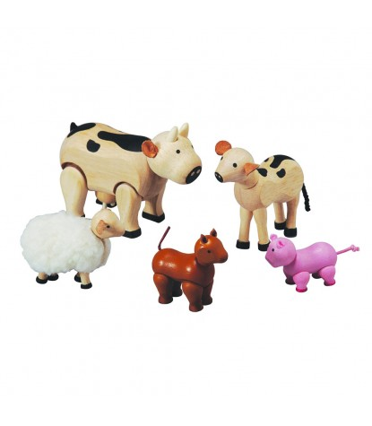 Plan Toys – Farm Animal Doll Set