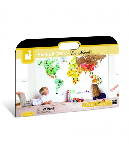 Janod – Magneti'stick World Map Wall Decal