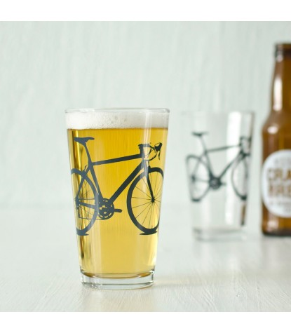 Vital Industries Bicycle Pint Glass in Charcoal