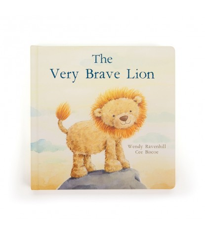 Jellycat A Very Brave Lion Board Book Front