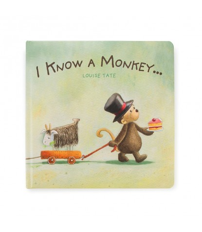 Jellycat – I Know A Monkey Board Book