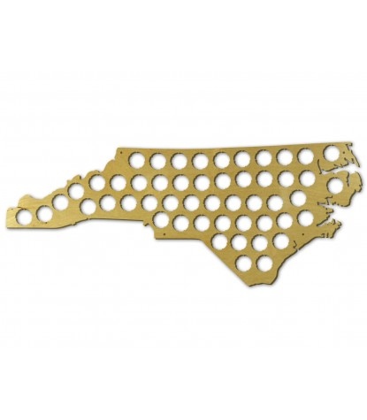 Beer Cap Map North Carolina Version