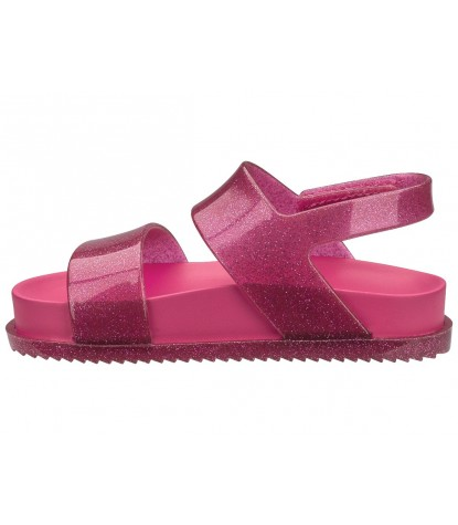Mini Melissa - Cosmic Sandal Pink Glitter