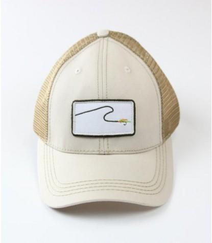 Souther Hooker Flyl Logo Beige Trucker Hat Front