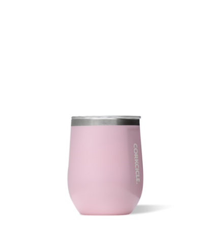 Corkcicle Stemless 12oz Tumbler in Rose Quartz
