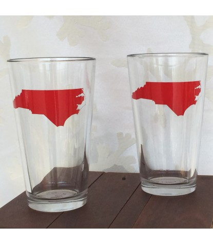 Vital Industries North Carolina Pint Glass in Red