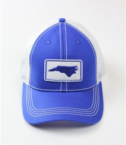 Souther Hooker NC Blue Logo Trucker Hat Front
