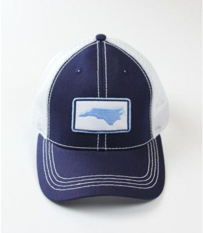 Souther Hooker NC Navy Blue Logo Trucker Hat Front
