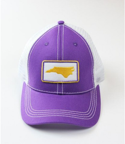 Souther Hooker NC Purple Logo Trucker Hat Front