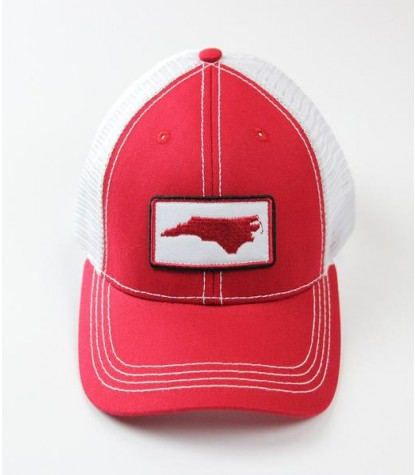 Souther Hooker NC Red Logo Trucker Hat Front