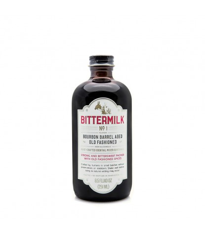 Bittermilk No.1 Bourbon Barrel Aged Old Fashioned Cocktail Mixer