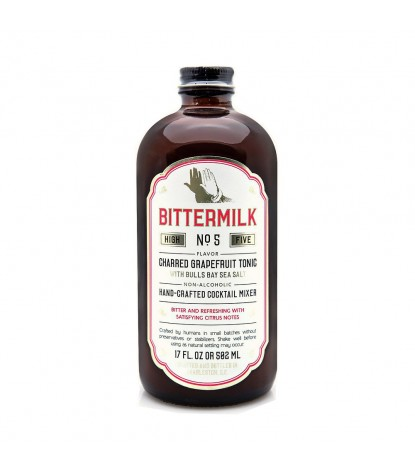 Bittermilk No. 5 Charred Grapefruit Tonic Cocktail Mixer with Bulls Bay Sea Salt