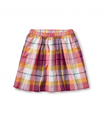 Tea Collection Faodail Flannel Skirt in Orange Buoy Product Image