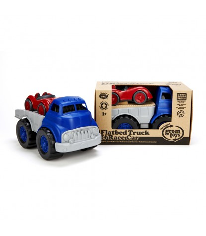 Green Toys – Flatbed Truck & Race Car