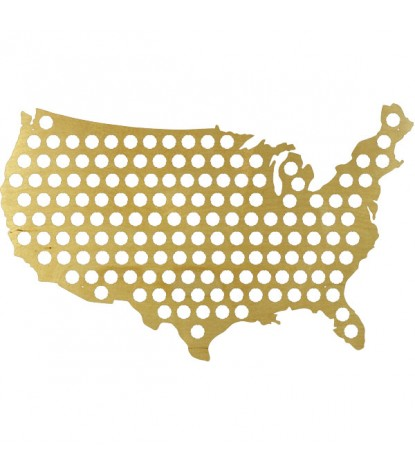 Beer Cap Map United States Version