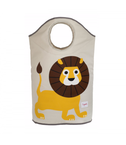 3 Sprouts Lion Laundry Hamper Open