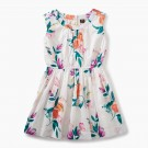 Tea Collection - Peach Flower Dress