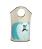 3 Sprouts Polar Bear Laundry Hamper Opened